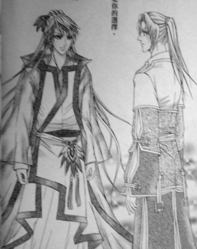 (male) Caisheng and Wen Ziqiu in nice outfits