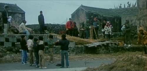 The dung bomb scene turns out to just be a film set.