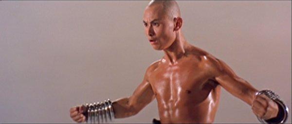 Gordon Liu shows off his fists.