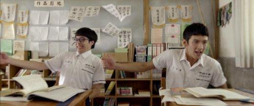 Two high school boys masturbate in class.