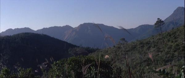 A shot showing mountains.