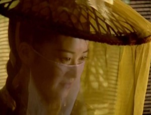 Ren Yingying wearing a veil