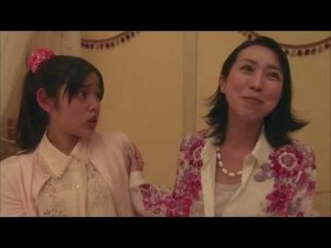 Kotoko with Irie's enthusiastic and somewhat insane mother.